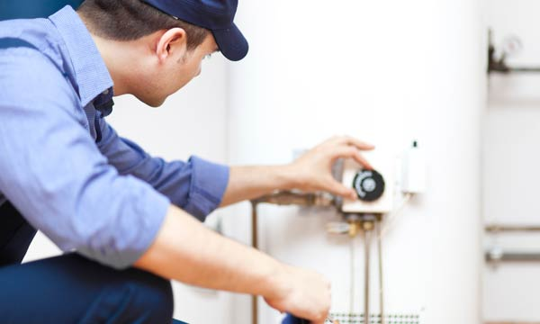 Jack is working on a water heater repair in Fremont, CA