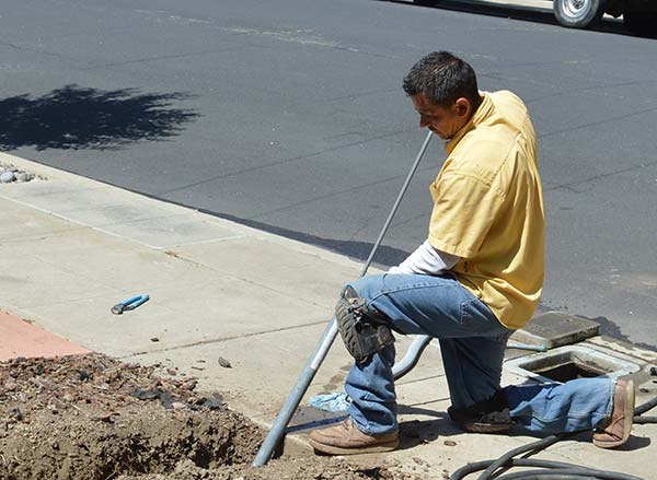 Jack is working on a trenchless sewer repair in Fremont CA