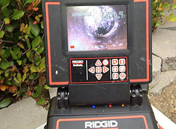 sewer line inspection using Ridgid tools